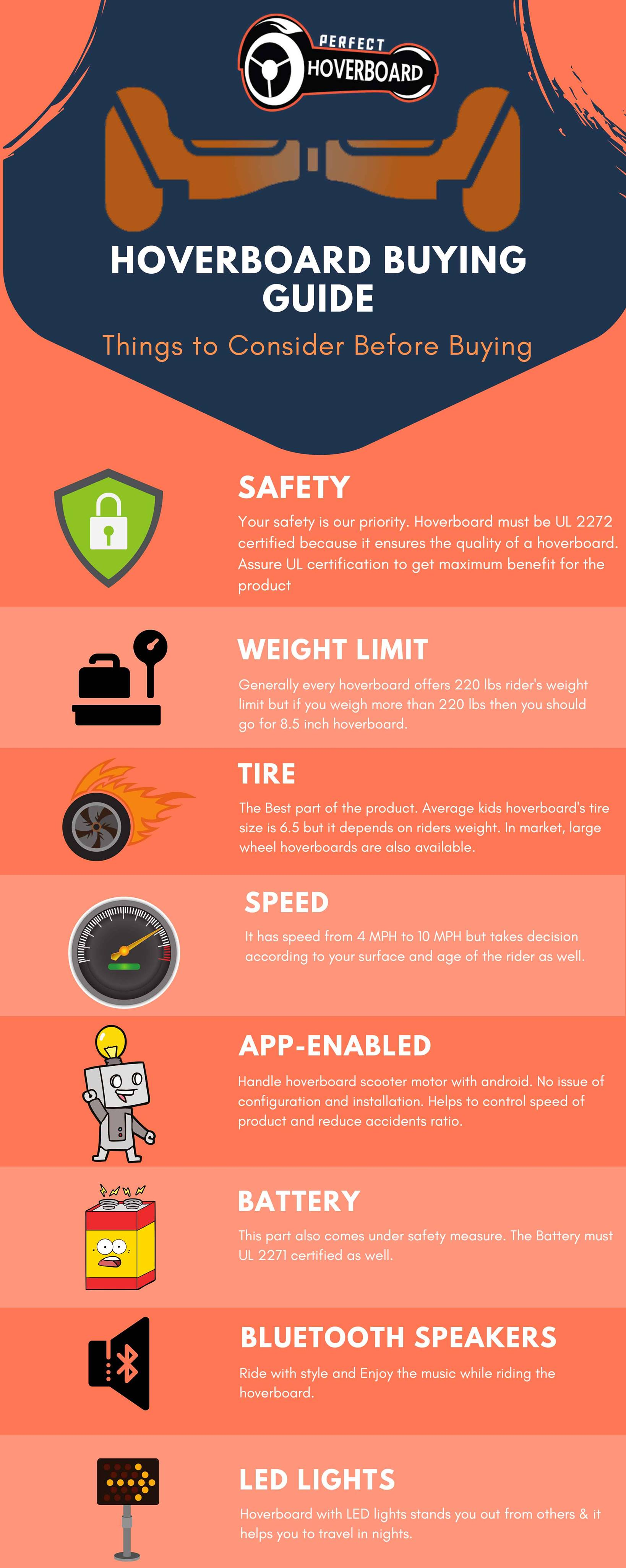 Hoverboard Buying Guide Infographics
